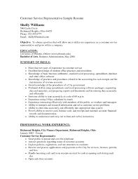 sample resume of customer service representative resume template