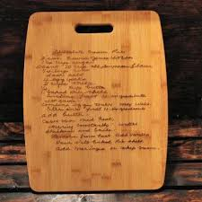 recipe engraved cutting board cutting board rectangular witty knoot designs