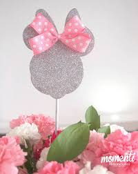 pink and silver baby shower pink minnie mouse baby shower centerpiece in silver glitter baby