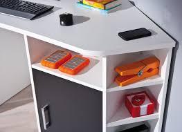 bureau enfant d angle links 13300200 fabri bureau d angle 1 porte 1 tiroir blanc noir 181