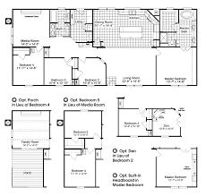 5 bedroom manufactured homes floor plans bedroom mobile home plan surprising the homerun hrt472a6 floor