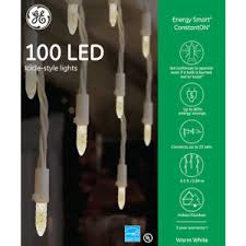 ge constant on christmas lights new ge energy smart 100 led constant on warm white icicle christmas