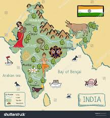 Bay Of Bengal Map Cartoon Map India Stockillustration 531918757 Shutterstock
