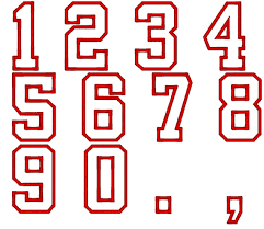 player numbers font varsity collegiate machine by artapli on etsy