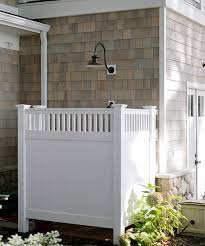 Simple Outdoor Showers - design inspiration for a refreshing outdoor shower luxury pools