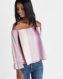ombre blouse ombre the shoulder abbreviated blouse express