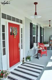 Front Door Red by Front Door And Rug Jpg 1 048 1 600 Pixels Porches Pinterest