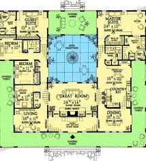 House Plans With Pools Plans With Courtyards Home Plans Courtyard Pool Courtyard House