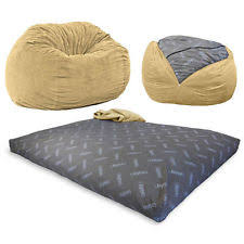 brown bean bags and inflatable furniture ebay