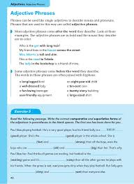 adjective phrase worksheet 6th grade basic english grammar book