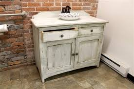Rustic Bathroom Vanity Cabinets by White Bathroom Vanity From Reclaimed Wood Ecustomfinishes Rustic