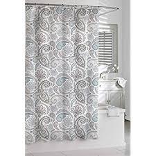 Kassatex Shower Curtain Kassatex Paisley Shower Curtain Blue Grey 72 By 72