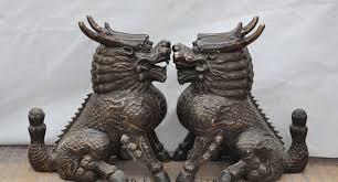 pixiu statue xd 002107 20 bronze evil spirits guardian kylin chi