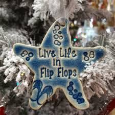 coastal themed and flip flop ornaments all about flip flops