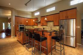 L Shaped Kitchen Layout by Brown Wooden L Shaped Kitchen Cabinet Plus Brown Wooden Island
