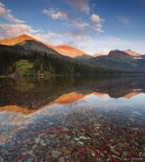 Montana National Parks images Elizabeth lake orange reflection glacier national park montana jpg