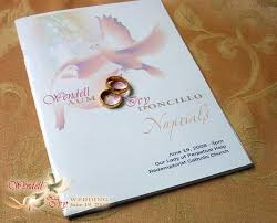 catholic wedding booklet accessories and things wendell wedding
