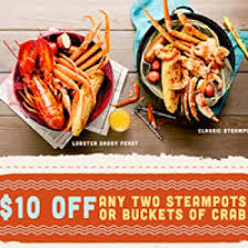 coupons for joe s crab shack joe s crab shack 10 two steots or crab buckets free 4