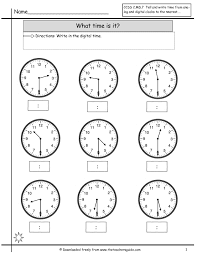 telling time worksheets from the s guide - Telling Time Half Hour