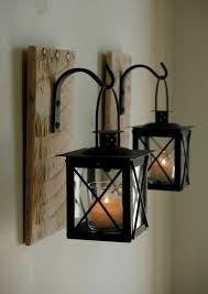 rustic barn wood mason jar candle holders would be great outdoors