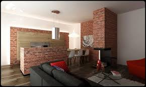 brick wall apartment brick wall theme small apartment design by pracownia 3d image