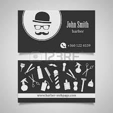 hair salon barber shop business card design template royalty free
