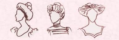 sketches of hair edwardian hair and hats