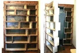 Contemporary Bookcase With Doors Secret Door Bookcase Contemporary Bookshelf Dynamicpeople
