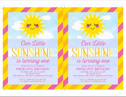 invitations for 13th birthday party you are my sunshine birthday invitation template sunshine