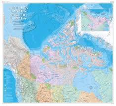 Calgary Alberta Canada Map by Northern Canada Natural Resources Canada Wall Map