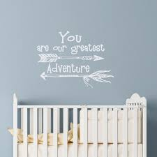 Nursery Sayings Wall Decals Nursery Wall Decals Quote You Are Our Greatest Adventure Wall