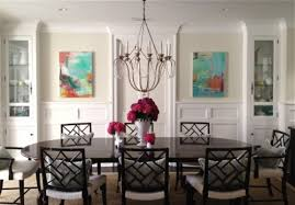 Artwork For Dining Room Pair Of Abstract Paintings Transitional Dining Room Los
