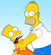 homer homer strangling bart the simpsons like figures