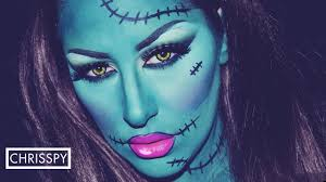 Youtube Halloween Makeup by Lady Frankenstein Halloween Tutorial Youtube