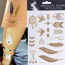 2015 new design tattoo bracelets necklaces gold temporary tattoos