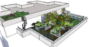 london garden design e16 a contemporary communal roof terrace