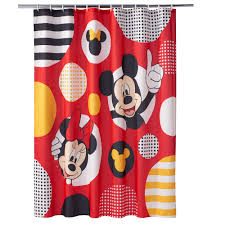 Mickey Shower Curtain Hooks Disney U0027s Mickey U0026 Minnie Mouse Shower Curtain Collection