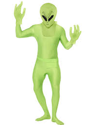 Body Halloween Costumes Skin Suit Alien Martian Body Zentai Halloween Fancy