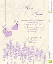 Free Invitation Card Design Wedding Invitation Card Lavender Background Stock Vector Image