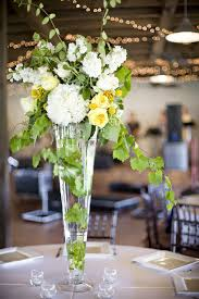 white yellow green tall centerpieces elizabeth anne designs the