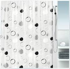 Transparent Shower Curtains Circles Shower Curtains Transparent Shower Curtain Liner Black And