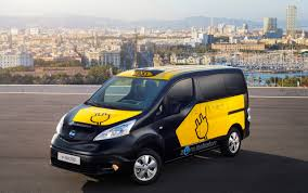 nissan nv200 taxi barcelona to use nissan e nv200 electric taxi cabs