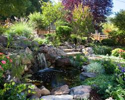 Backyard Pond Pictures by Garden Pond Waterfall Houzz
