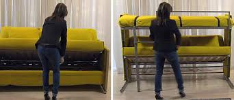 One Person Bunk Bed Bunk Bed Folding Sofa Turns Into Bunk Bed In Seconds