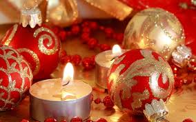 red balls christmas candles hd wallpaper hd wallpapers