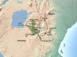 East Africa Map East Africa Migration Discoverer Jenman African Safaris