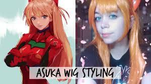 asuka hair asuka wig styling neon genesis evangelion