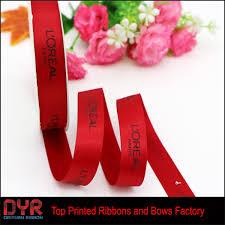 custom ribbon custom ribbon logo plastisol print ribbon