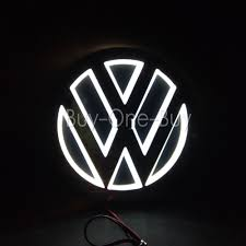 volkswagen logo black and white 5d reflective led logo emblem badge decal sticker lights for vw