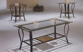 Low Table Set - coffee table glass iron coffee table furniture sets rod iron
